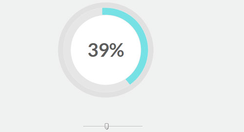 Progress Bar with integer percentage in the middle - New