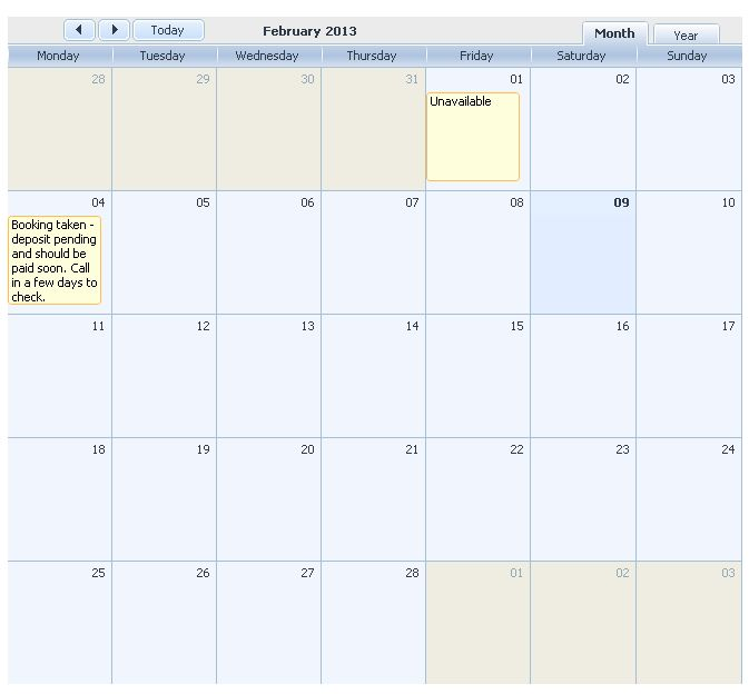 Event width in month grid view - Javascript - DHTMLX