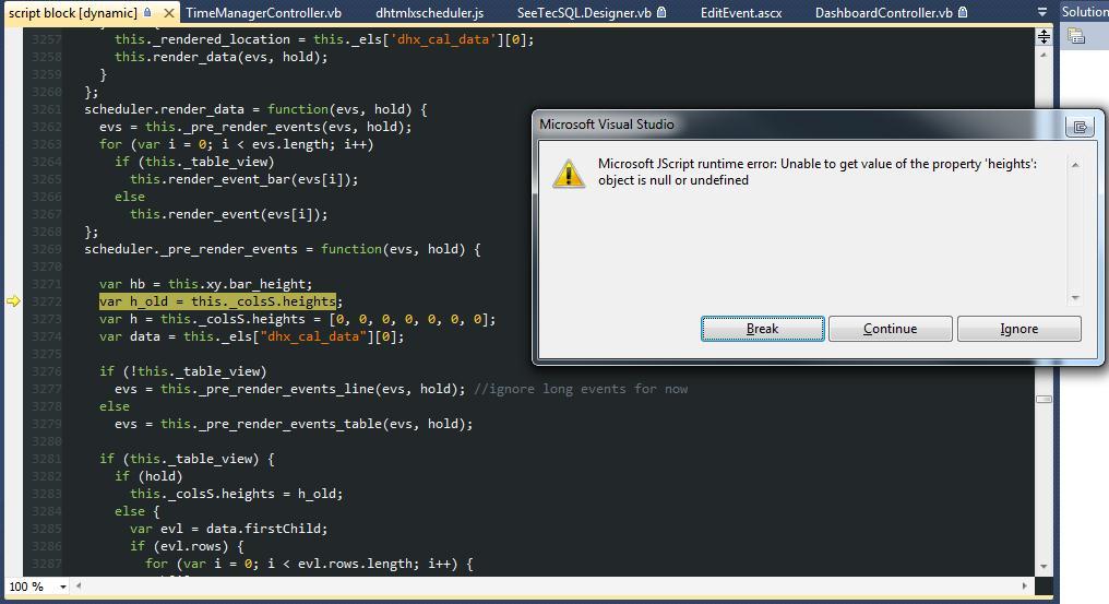 Javascript Error only when loading Map View - ASP NET MVC - DHTMLX