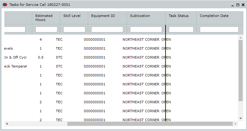 Issue with column to header alignment when horizontal scroll